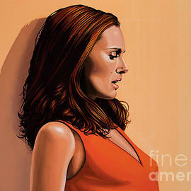 Paul Meijering - Natalie Portman Painting