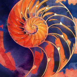 Clare Bambers - Nautilus Shell Orange Purple