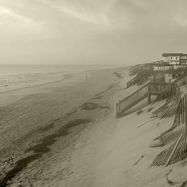 Brian Wallace - NC OBX Morning Coastline - Sepia