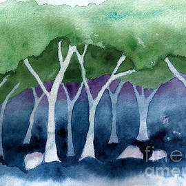 Conni Schaftenaar Elderberry Blossom Art - Negative Thinking Makes a Woodland Scene