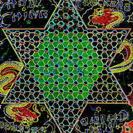 Paul W Faust - Impressions of Light - Neon Chinese Checkers