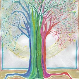 Neon Rainbow Tree by jrr