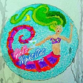 ARTography by Pamela  Smale Williams - Neon Undersea Invitation