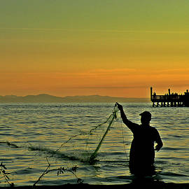 Brian Chase - Net Fishing at Dusk