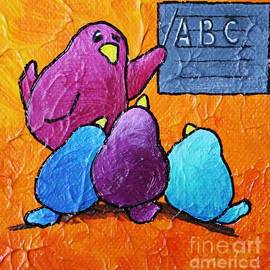 LimbBirds Whimsical Birds - Never Stop Learning