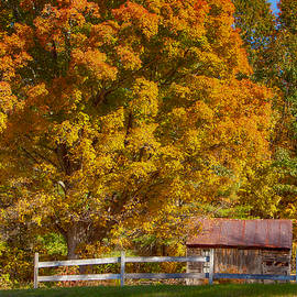 Jeff Folger - New hampshire barn under fall foliage