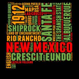 New Mexico Word Cloud Map 1 - Naxart Studio