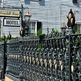 Diane Lent - New Orleans Cornstalk Fence Hotel