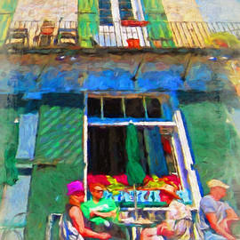 Rebecca Korpita - New Orleans French Quarter Outdoor Cafe Scene