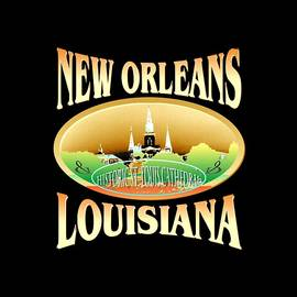 Art America Online Gallery - New Orleans Louisiana Tshirt Design