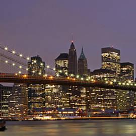 Juergen Roth - New York City Skyline and Brooklyn Bridge