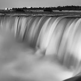 Adam Romanowicz - Niagara Falls at Dusk Black and White