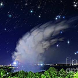 Charline Xia - Niagara Falls Rising Mist under Starry Sky