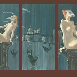 Igor Sakurov - Night in Venice. Triptych