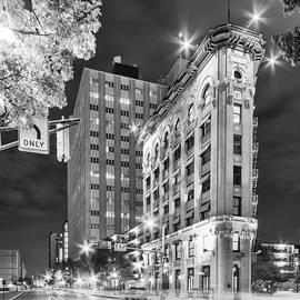 Silvio Ligutti - Night Photograph of the Flatiron or Saunders Triangle Building - Downtown Fort Worth - Texas