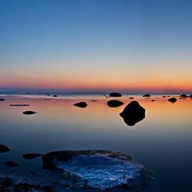 Sandra Rugina - Night reflections seascape after sunset panorama
