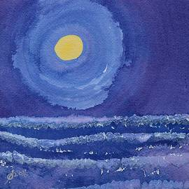 Sol Luckman - Night Surf original painting