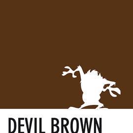 No16 My Minimal Color Code poster tasmanian devil - Chungkong Art