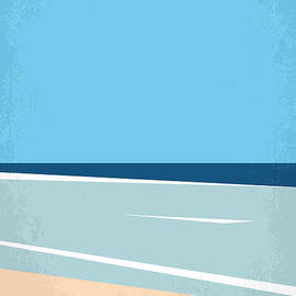 No569 My The Beach minimal movie poster - Chungkong Art