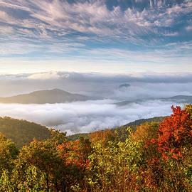 Dave Allen - North Carolina Autumn Sunrise Blue Ridge Parkway Fall Foliage NC Mountains