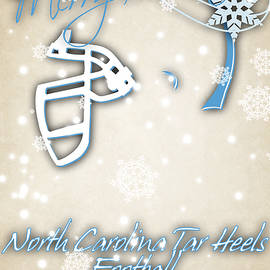 NORTH CAROLINA TAR HEELS CHRISTMAS CARD - Joe Hamilton