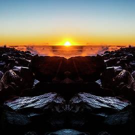 North Jetty Reflection - Pelo Blanco Photo