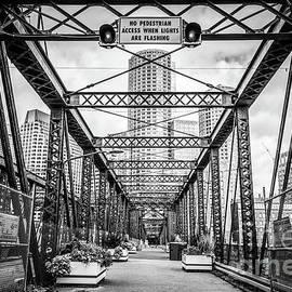 Northern Avenue Bridge Black and White Photo - Paul Velgos