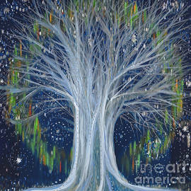 First Star Art - Northern Lights Tree by jrr