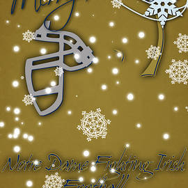 NOTRE DAME FIGHTING IRISH CHRISTMAS CARD 2 - Joe Hamilton