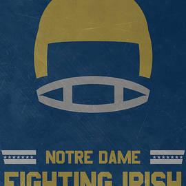 NOTRE DAME FIGHTING IRISH VINTAGE FOOTBALL ART - Joe Hamilton