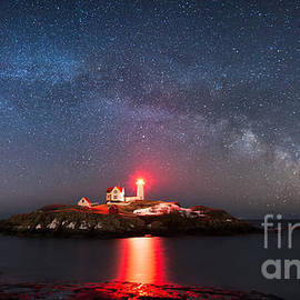 Michael Ver Sprill - Nubble Lighthouse Milky Way Pano