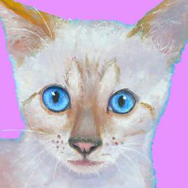Jan Matson - Nursery Decor - Snow Bengal Cat painting