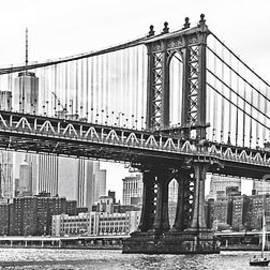 Regina Geoghan - NYC Manhattan Bridge in Black and White