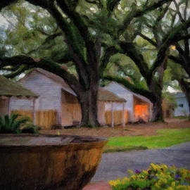 Kathleen K Parker - Oak Alley Evening - painted