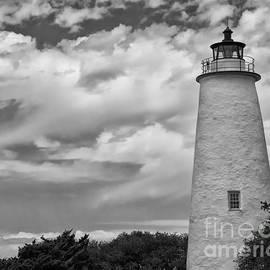 Tom Gari Gallery-Three-Photography - Ocracoke Island Lighthouse Black and White