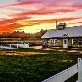 Elizabeth Tillar - October Sunset Over Remick Farm