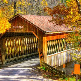 Michael Mazaika - Ohio Country Roads - State Road Covered Bridge Over Conneaut Creek No. 11 - Ashtabula County