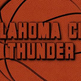 OKLAHOMA CITY THUNDER LEATHER ART - Joe Hamilton
