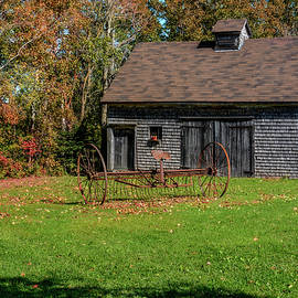 Ken Morris - Old Barn and Rusty Farm Implement 01