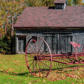 Ken Morris - Old Barn and Rusty Farm Implement 02