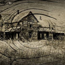 Randall Nyhof - Old Farm House with Wood Grain Overlay