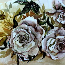 Mindy Newman - Old Fashion White Roses