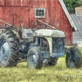 Old Ford Tractor Colored Pencil - Edward Fielding