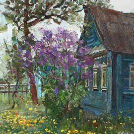 Juliya Zhukova - Old house and lilac