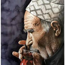 Alber Assi - Old man drinking tea