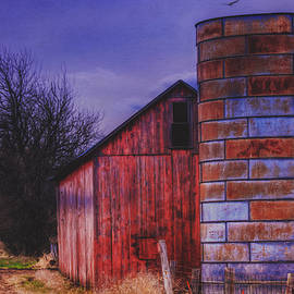 Anna Louise - Old Red Barn and Rusted Silo