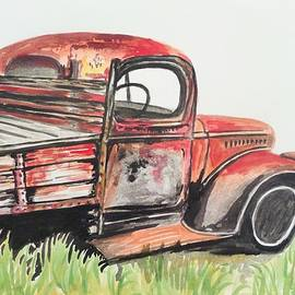 Anne Gardner - Old red truck