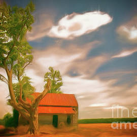 Dan Carmichael - Old Rustic Vintage Farm House and Tree AP