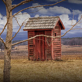 Randall Nyhof - Old Rustic Wooden Outhouse in West Michigan
