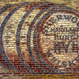 Michael Mazaika - Old Sherwood Distillery Logo on Former Bonded Warehouse - Westminster Carroll County Maryland